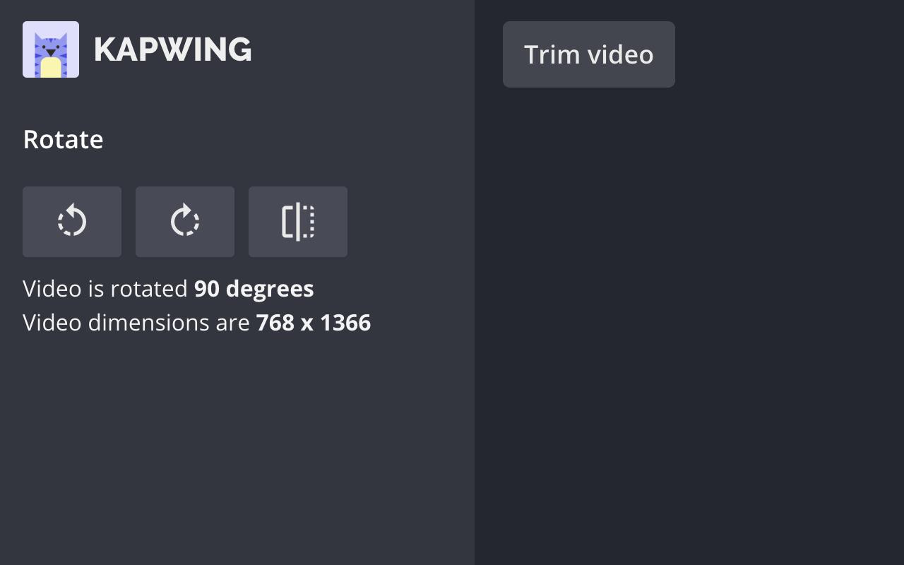 Kapwing Rotate Video