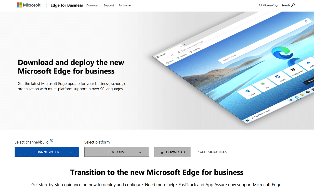 Microsoft Edge 離線安裝檔下載