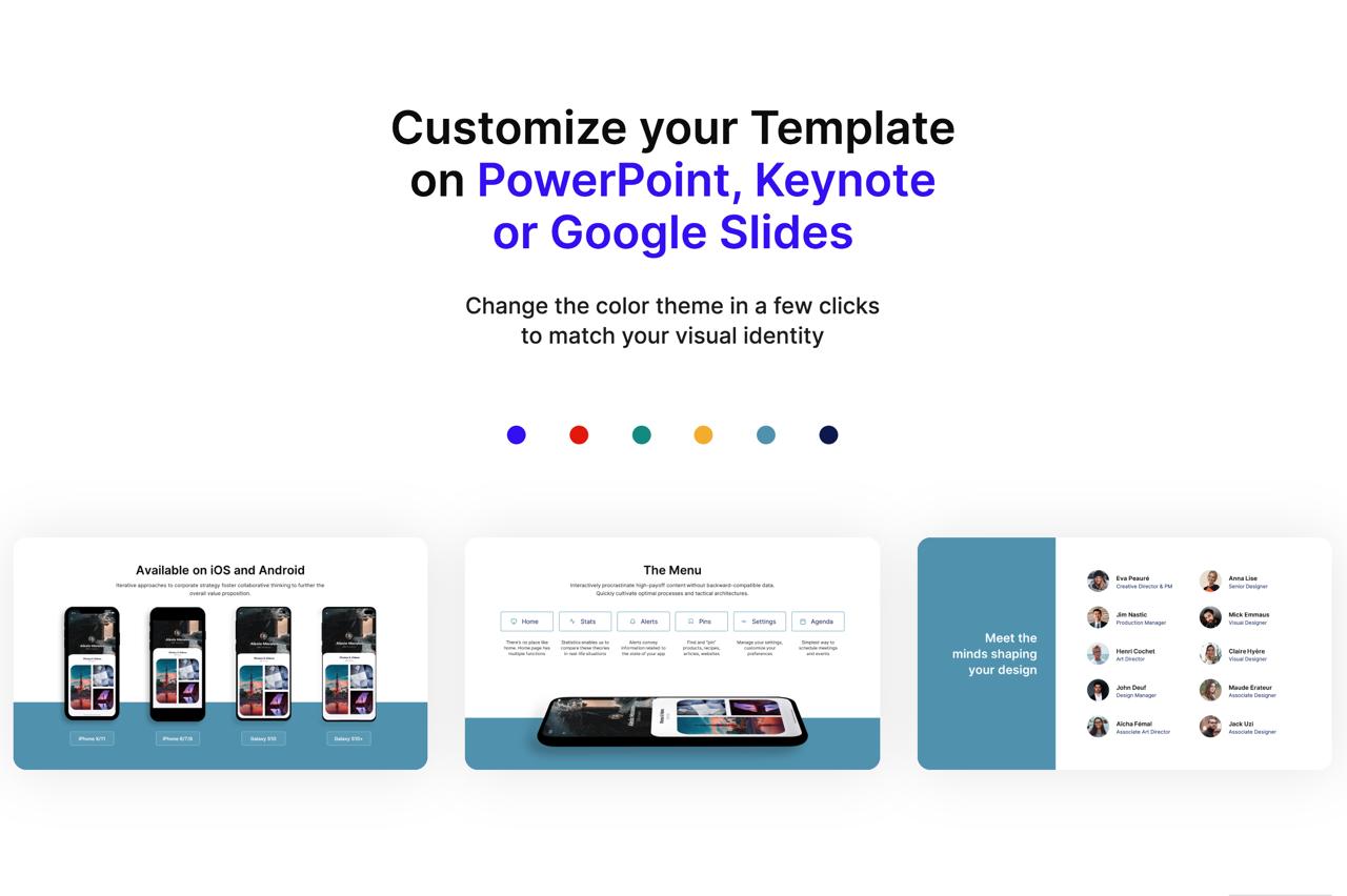 Selfone 免費 PowerPoint 投影片版型,適合應用程式開發者