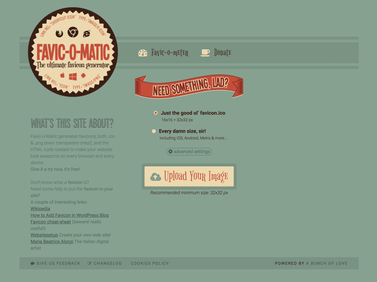 Favic-o-Matic 快速裁切、製作各種尺寸大小的 Favicon 網站圖示