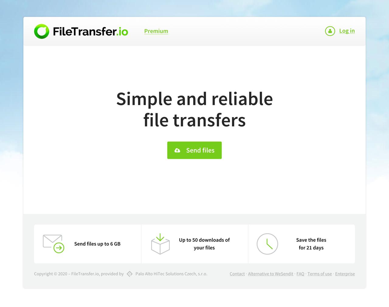 FileTransfer.io 最快速簡單的免費空間推薦,6 GB 上傳限制可保存 21 天